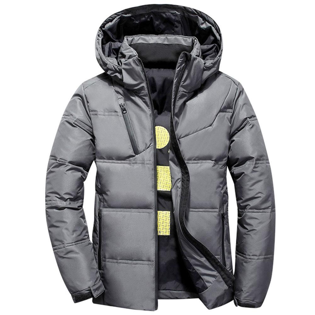 Men Winter Autumn Short Down Jacket Warm Thicken Hooded Outwear Coat Winter Jacket Men -20 Degree Hooded Coat Jackets Outwear