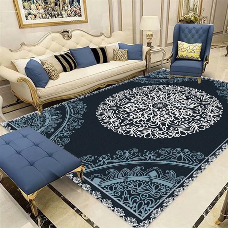 European Classical Persian Art Carpets For Living Room Bedroom Area Rugs Anti-Slip Kitchen Floor Mat Fashion Hallway Soft Carpet