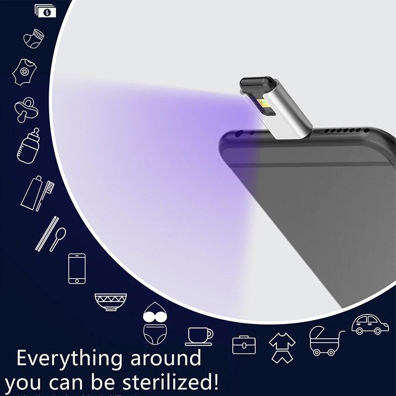 Mini Portable UVC Phone Sterilization Disinfection Rod Personal Care Traveling USB Portable UV Sterilizer Lamp Disinfection