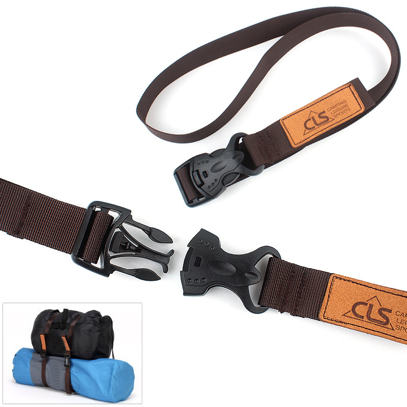 2pcs Outdoor Luggage Tied With Double Insurance Buckle Suitcases Packing Belts Tied The Goods  Tie The Rope Belt Buckle AP2357