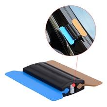 FOSHIO imán de la escobilla de goma con 6 uds tela de fibra de carbono de lámina de envoltorio para automóvil raspador tintado de herramienta de embalaje automático Accesorios