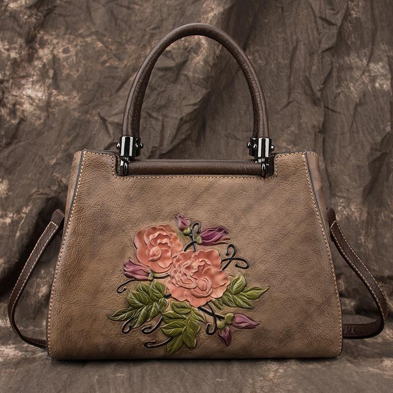 Women Messenger Shoulder Top Handle Genuine Leather Bags High Quality Natural Skin Luxury Ladies Cross Body Tote Purse Handbag