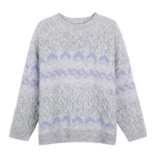 England Style Knit Sweater Female New 2020 O-Neck