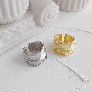 Image 3 - SSTEEL 925 anillos de plata esterlina de acero para mujer, anillo abierto, Anelli Argent, Argent Massif, joyería para mujer