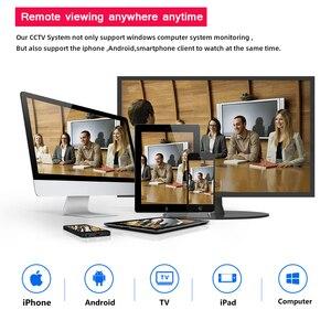 Image 5 - H.265 8CH 5MP cctvカメラシステムワイヤレスpoe nvrキット屋外防水 5MPオーディオpoe ipカメラセキュリティ監視システム