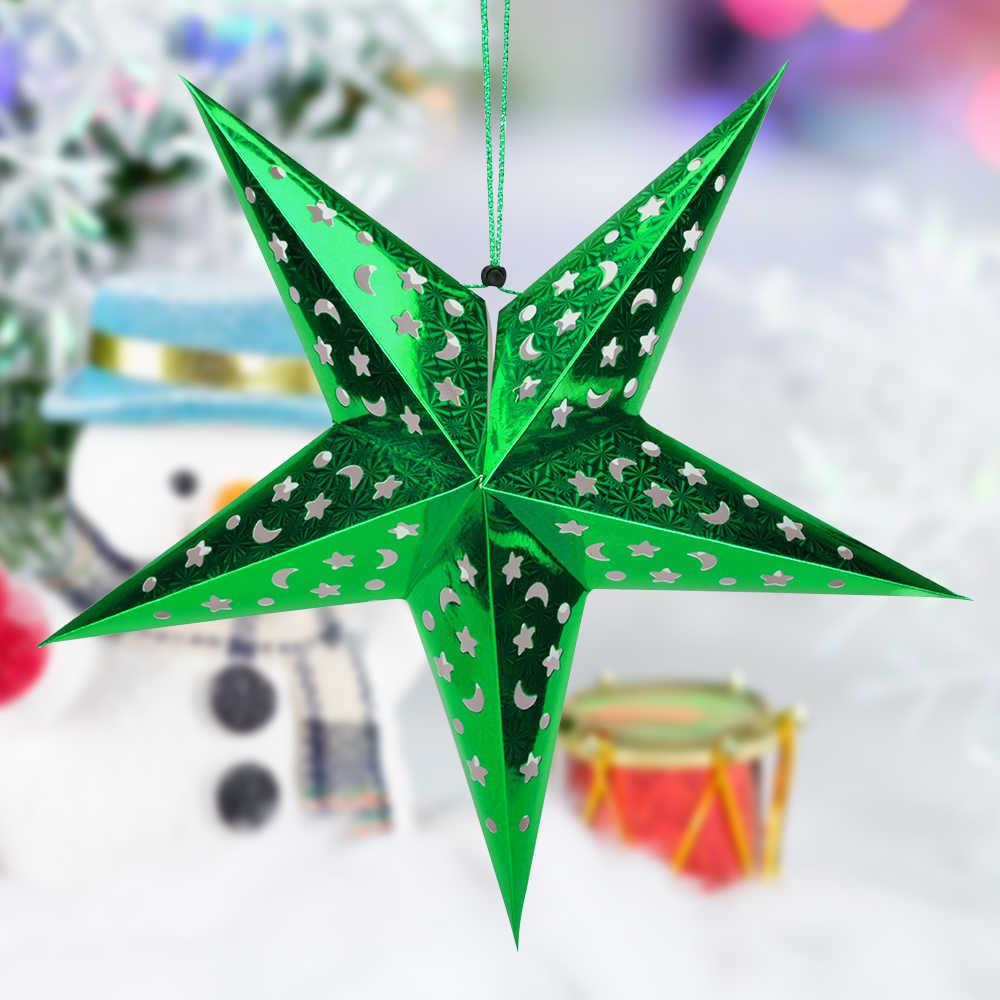 30 45 60 centimetri 6 colori 3d ornamenti di carta star for Ornamenti casa
