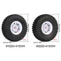 INJORA 4PCS 1.55 Beadlock Plastic Wheel Rim Tires for RC Crawler Car Axial AX90069 D90 TF2 Tamiya CC01 LC70 MST JIMNY 3