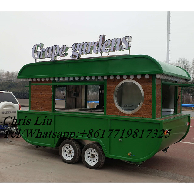 Boat Shape 4.0m  Electric New Design Mobile Food Trailer/ Fast Food Cart/electric Food Truck