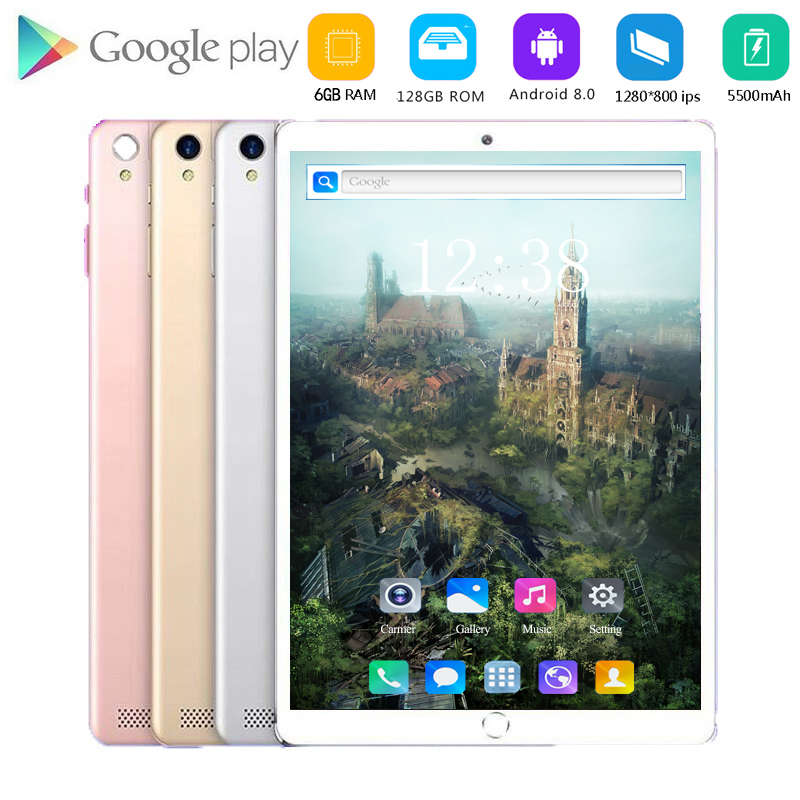 2020 Newest 10.1 Inch Tablet Android 8.0 Octa Core 6GB RAM 128GB ROM 4G Wifi Bluetooth GPS Phone Call Tablet Pc Kids Tablet