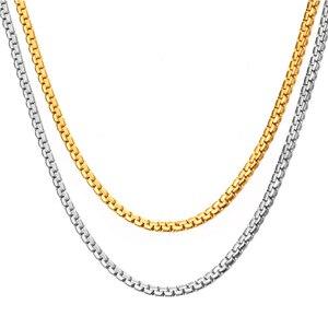 Хип-хоп змея звенья цепи 6 мм мужской золотой цвет из нержавеющей стали длинный Чокер-цепочки для мужчин/женщин ювелирные изделия Dropshipping