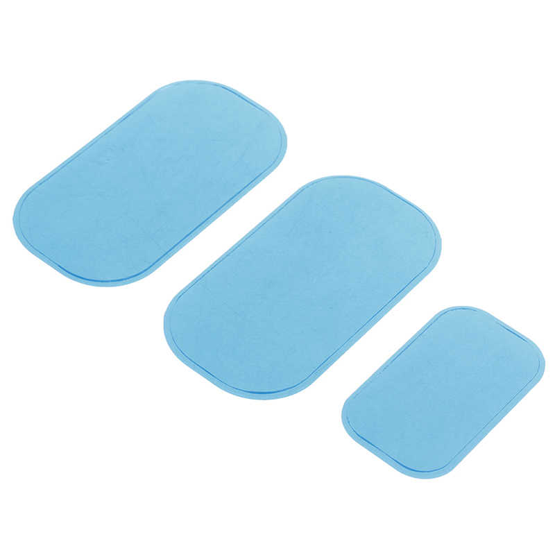 3 ชิ้น/เซ็ตสีฟ้าแผ่นเจลท้องสติกเกอร์เจล Hydrogel Paster สำหรับออกกำลังกายเครื่องนวดกระชับสัดส่วน