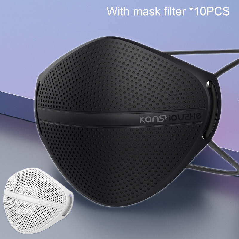 KanShouZhe Reusable Face Masks Protective Mask With 10 Filters PM2.5 Safety Mask Mouth Nose Disconnect-type For Dust Mouth Cap