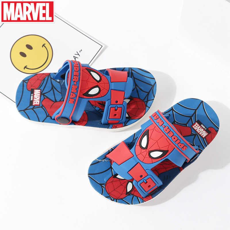 Filme da marvel Os Vingadores Capitão América Spiderman das Crianças chinelos meninos cosplay anime sapatos casa sapatos de lazer sapatos de Praia