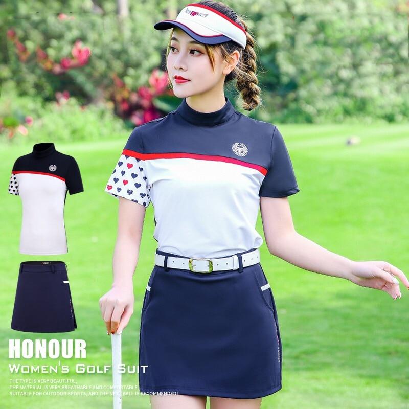 Femmes T Shirt 2019 nouveau Golf vêtements équipe uniforme vêtements d'été à manches courtes Polo chemise femmes jupe ensemble Sports de plein air costume