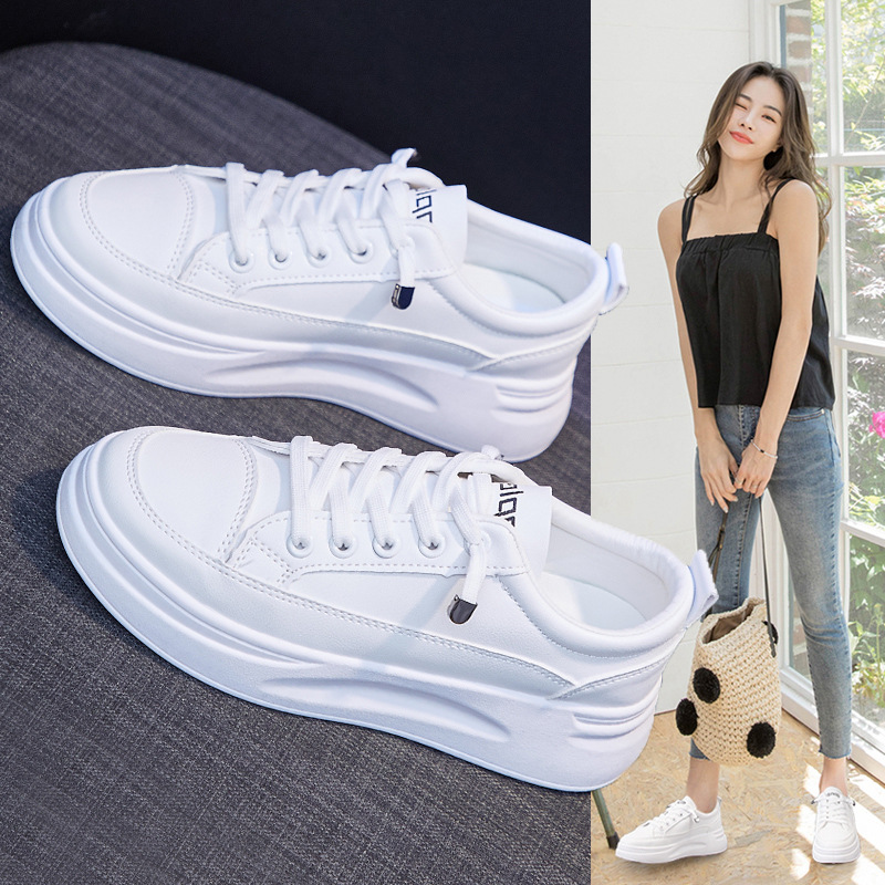 Wild White Shoes Female, Spring 2020) New Breathable Running Shoes Increased Platform Shoes Casual Shoes