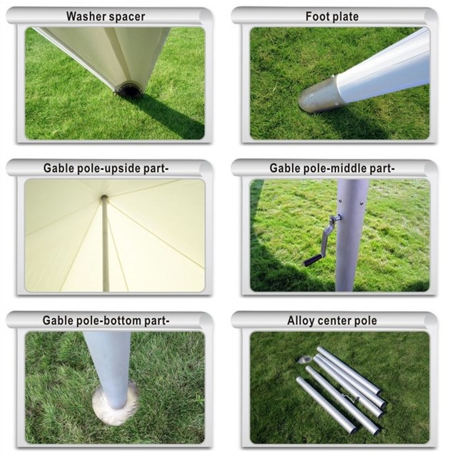 14m x 25m Three Poles Star Marquee Tent Trade Show Exhibition Wedding Tent PVC Material Stretch Event Tents Fly Spider Sun Shade