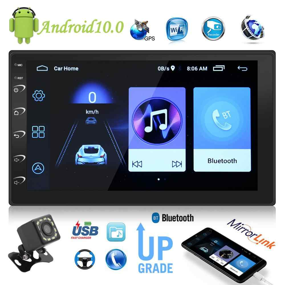 2 Din Android 10.0 Car Radio Pemutar Video Multimedia Double Stereo GPS FM Radio Bluetooth Wifi Pemain Kepala Unit 7 inci Layar