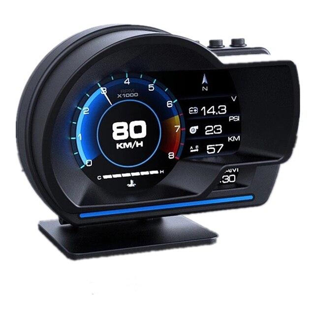 Nieuwste OBD2 + Gps Smart Auto Hud Head Up Display Auto Display Gauge Digitale Kilometerteller Security Alarm Water & Olie temp Rpm