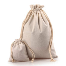Sacs cadeaux en Jute blanc 6 tailles, sacs à cordon pour cadeaux de noël, mariage, anniversaire, fournitures de fête prénatale