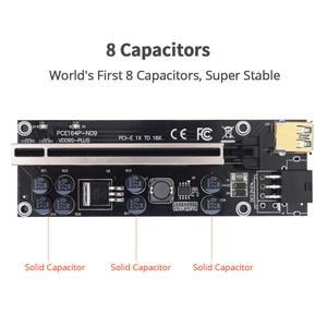 Image 4 - 10pcs TISHRIC VER009S בתוספת Riser 009s PCI E PCIE 6in PCI Express X16 GPU מתאם כרטיס Molex USB 3.0 כבל 1X 16X Extender