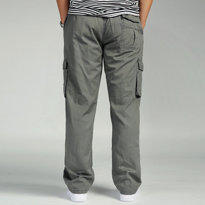 Image 2 - גברים מכנסיים מטען הכוללים גבר Loose עבודה מכנסיים צבאי צבא ירוק בתוספת גודל 4XL 5XL 6XL פועל חאקי ארוך בבאגי מכנסיים