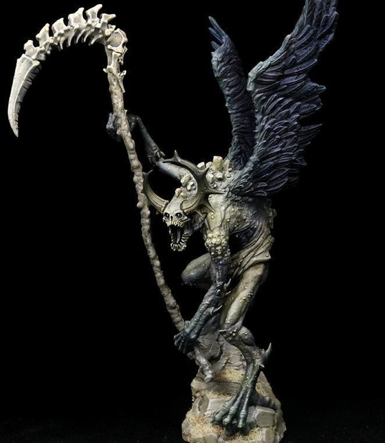 Resin Figure Model Kit Unassambled 230mm ancient fantasy warior stand with wing (WITH BASE )     Unpainted collect Figure 1