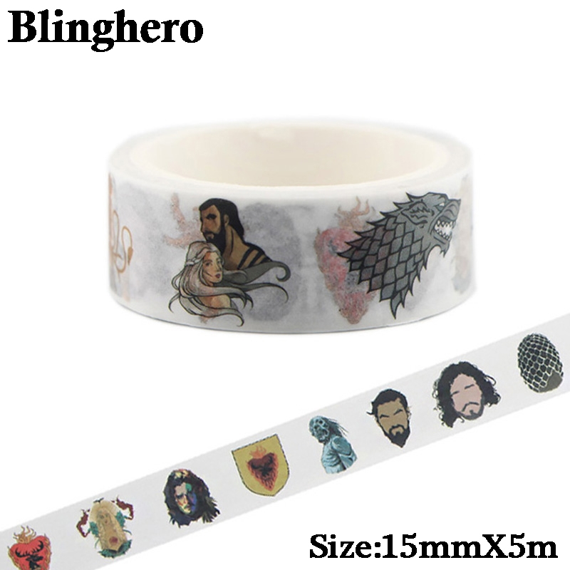 CA140 Game Of Thrones Washi Tapes DIY Painting Paper Masking Tape Decorative Adhesive Tapes Scrapbooking Stationery Stickers