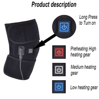 Knee Heating Pad Wrap Support Brace Adjustable for Outdoor Sports Arthritis Men Women All shipping