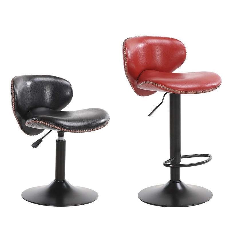 European Bar Chair Home Chair Lift Bar Table And Chair Backrest High Stool Modern Minimalist Front Desk Chair