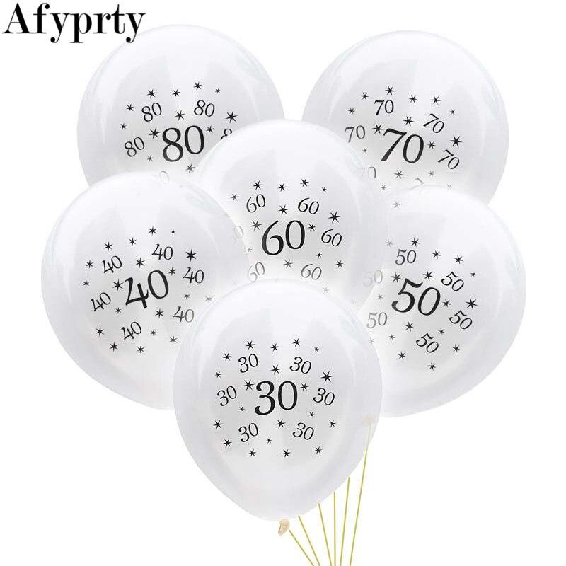 Ballons danniversaire pour adultes   10 pièces, 30 40 50 60 70 80 ans, pour décoration de fête danniversaire, ballons à Air, fournitures de fête