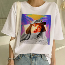 Luslos Pulp Fiction Movie Funny T Shirt Women Summer Ulzzang Short Sleeve T-shirt Hot Sale Fashion Vintage Mary Mia Female Tees(China)