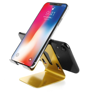 Double Sided 2X Mobile Phone Holder Table Desk Stand Universal Alloy Stand Desktop Support for Samsung iPhone Movie TXTB1