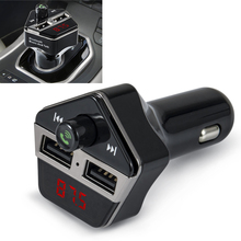 цена на Car LCD Bluetooth MP3 Music Player Kit Auto Radio Player Hands-free FM Transmitter Charger for Phones Extend MP3 USB TF