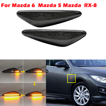 цена на Dynamic Amber LED Front Side Marker Light For Mazda MX-5 MX-6 16-up, for RX8 09-12,Powered by 36-SMD LED, Replace OEM Sidemarker