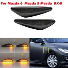 Năng Động Hổ Phách LED Mặt Trước Bút Ánh Sáng Cho Xe Mazda MX 5 MX 6 16 Lên, cho RX8 09 Tháng Dành Cho Xe NISSAN Lafesta Hương Lộ Ngôi Sao FAIT 124