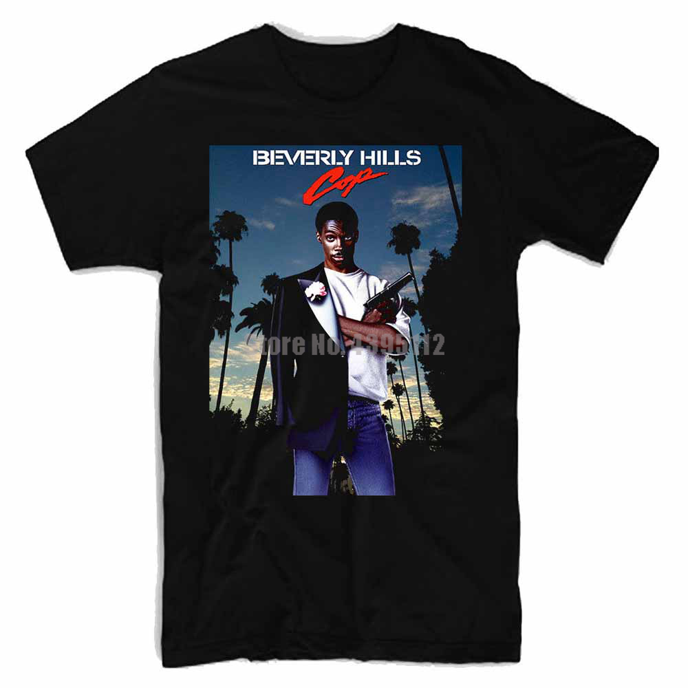 Beverly Hills Cop Movie Poster Mens Geek Shirt Streetwear Shirt Stylish Shirts Sweatshirt T Shirts Black Top Gsmzzz image
