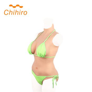 3G BCD Cup Silicone Bodysuits Breast Forms False Boobs Penetrable Pussy With Vagina Tube For Crossdresser Male To Female Shemale