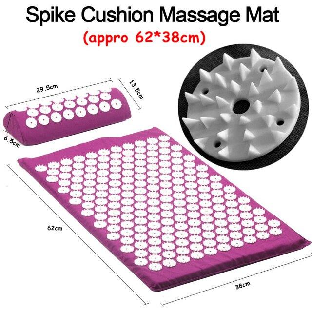 Acupuncture Cushion Massager Back Body Foot Massage Mat Pillow Set Relieve Stress Pain Acupuntura Yoga Mat Massage Pad Shakti 4