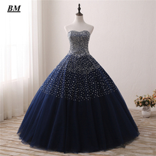 Luxury Quinceanera Dresses Ball Gown Sexy Sweetheart Beaded Sweet 16 Dresses Floor-length Fashion Formal Prom Party Dress BM17 цена и фото