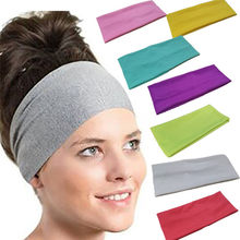 All Season Black Blue Gray Sports Headbands Women Yoga Sweatband Gym Stretch Headband Hair Band 2019 Stirnschweissband(China)