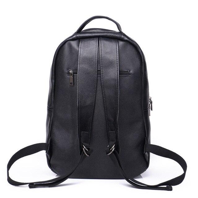 Фото кожаный рюкзак для мужчин модная вместительная уличная дорожная