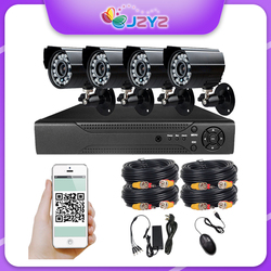 AHD DVR Kit 4CH CCTV System 1080P Camera 5 in 1 Analog TVI IP CVI Video Recorder Surveillance Outdoor Security P2P Email Alarm