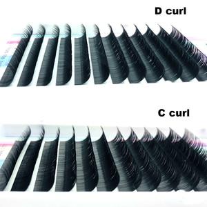 Image 2 - New Ellipse Flat False Eyelash Extension 8 16mm and mix flat mink cilia eyelashes Faux Mink Split Tip Ellipse eyelashes Matte