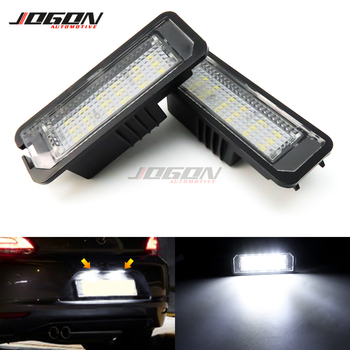 For VW GOLF MK5 MK7 4 5 6 7 GTI R Passat CC Scirocco Jetta EOS Beetle Polo Lupo LED Trunk Number Rear License Plate Light Lamp