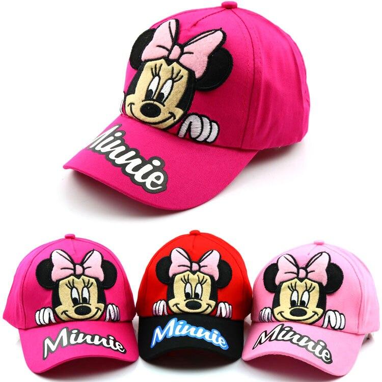 2020 New Summer Gorras 100% Cotton Cartoon Baseball Cap Children's Baby Hip-hop Hat Boys Girls Snapback Cartoon Mickey Caps