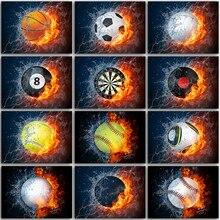 5D DIY Diamond Painting Kit flame basketball football billiards music Full Square&Round embroidery mosaic Cross stitch Paint art