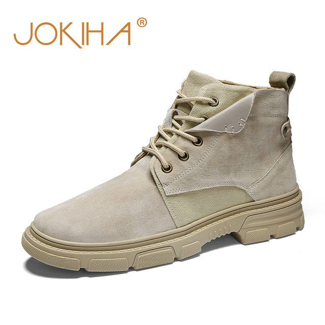 Leather Ankle Boots Men's Fashion