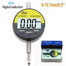 12.7mm 0.01mm IP54 digital indicator Electronic Micrometer Digital Micrometro Metric/Inch 0-12.7mm/0.5