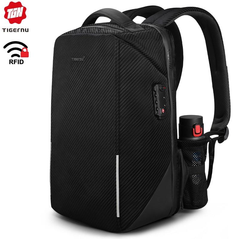 Tigernu RFID 15.6inch Laptop Backpack TSA Lock Anti Theft Splashproof Business Men Backpacks Bag For Male Teenagers Mochila Man