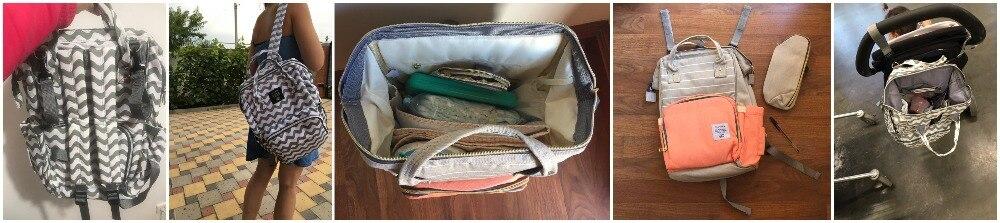 H669c0e8e018a4018b10ea64ec5f64572p LEQUEEN Fashion USB Mummy Maternity Diaper Bag Large Nursing Travel Backpack Designer Stroller Baby Bag Baby Care Nappy Backpack